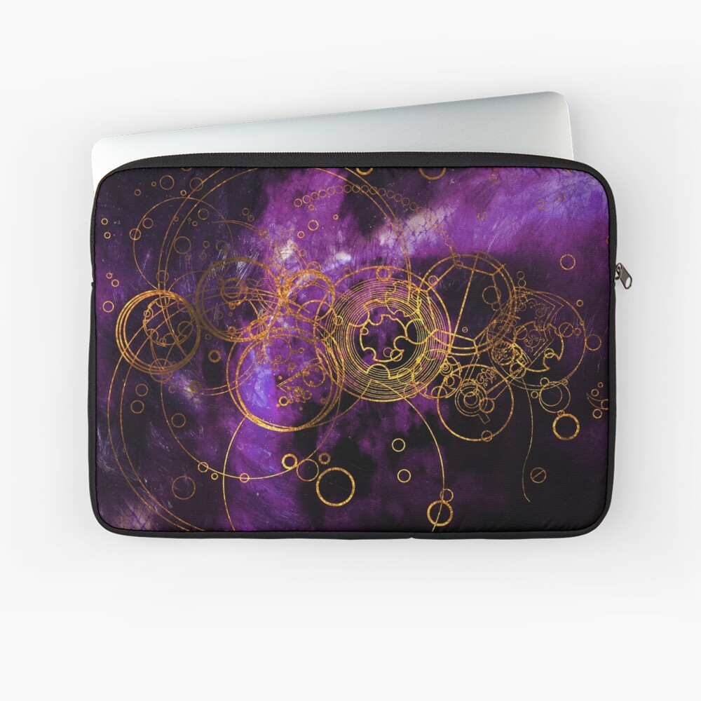 Time Lord Writing (purple) Laptop Sleeve