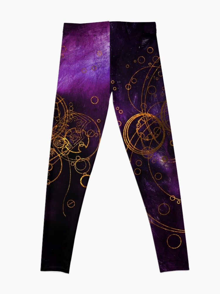 Alternate view of Time Lord Writing (purple) Leggings