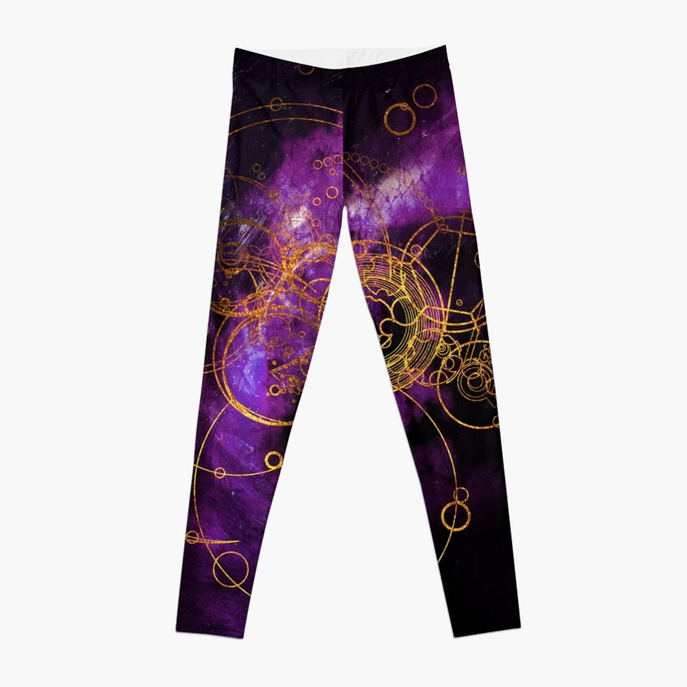 Time Lord Writing (purple) Leggings