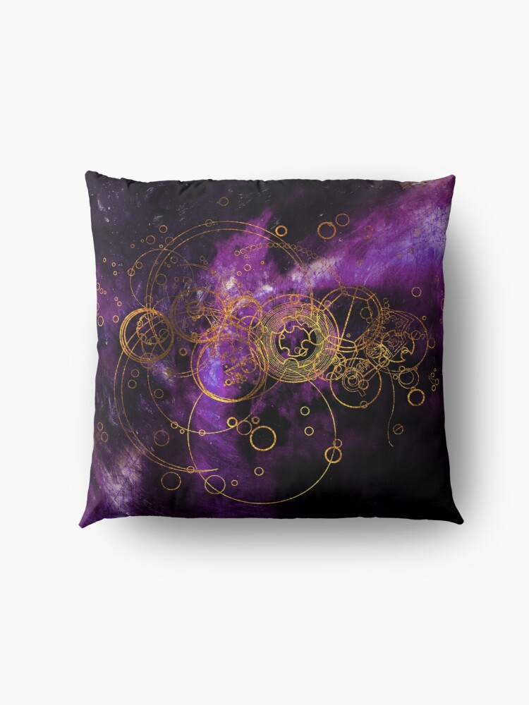 Alternate view of Time Lord Writing (purple) Floor Pillow