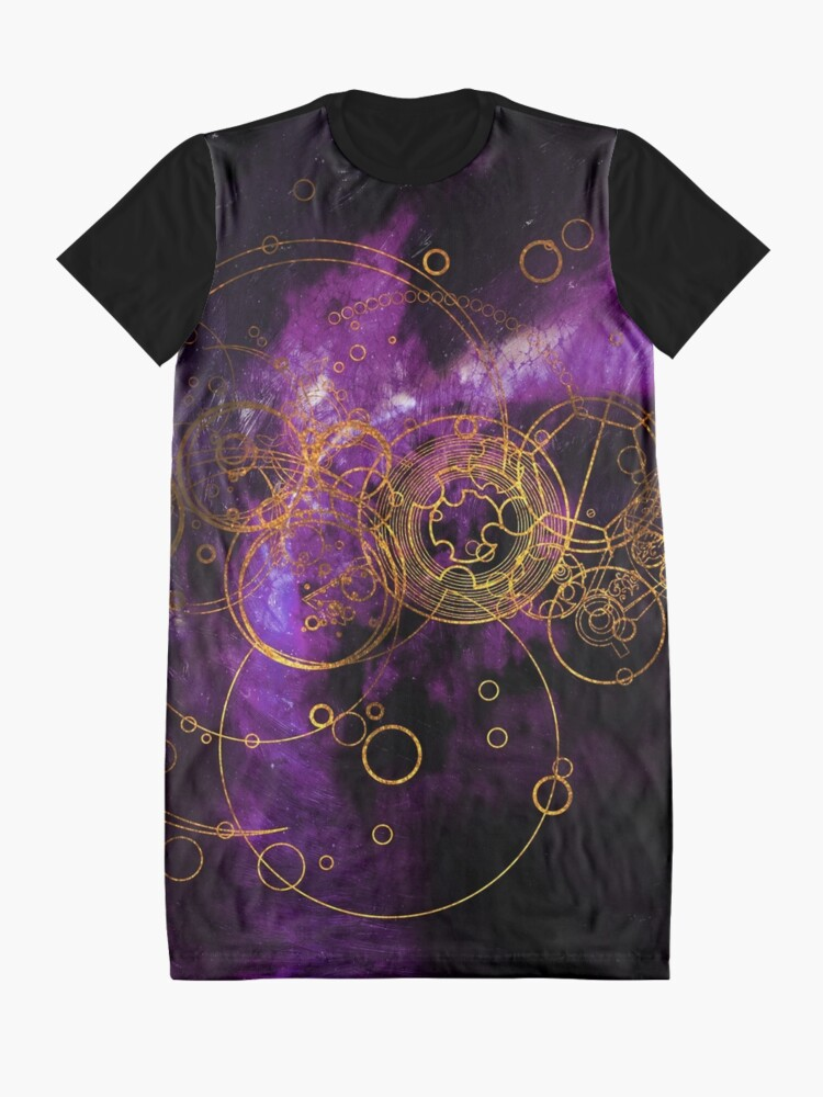 Alternate view of Time Lord Writing (purple) Graphic T-Shirt Dress