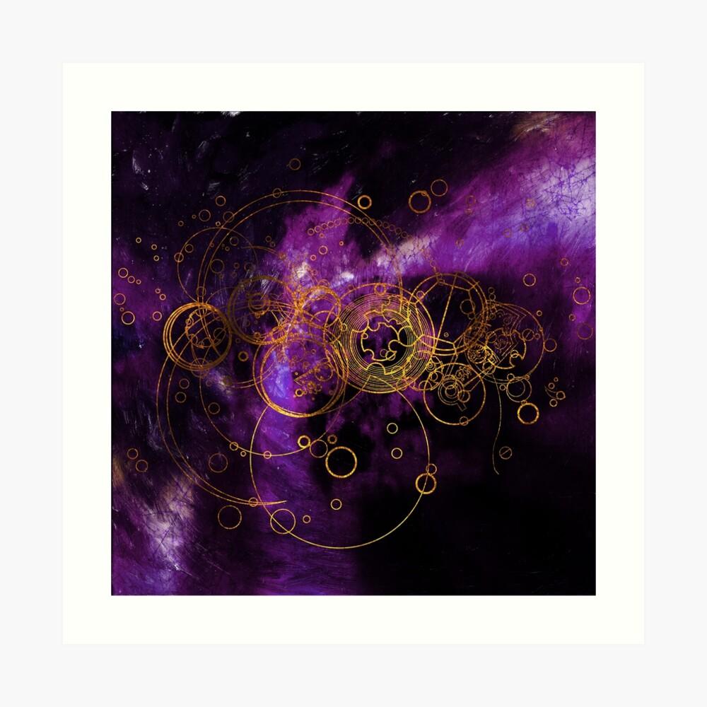 Time Lord Writing (purple) Art Print