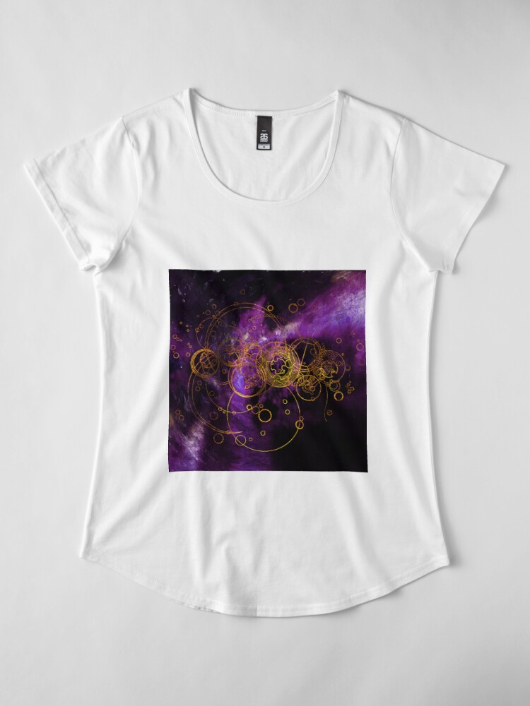 Alternate view of Time Lord Writing (purple) Premium Scoop T-Shirt