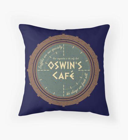 Oswin's Cafe Throw Pillow