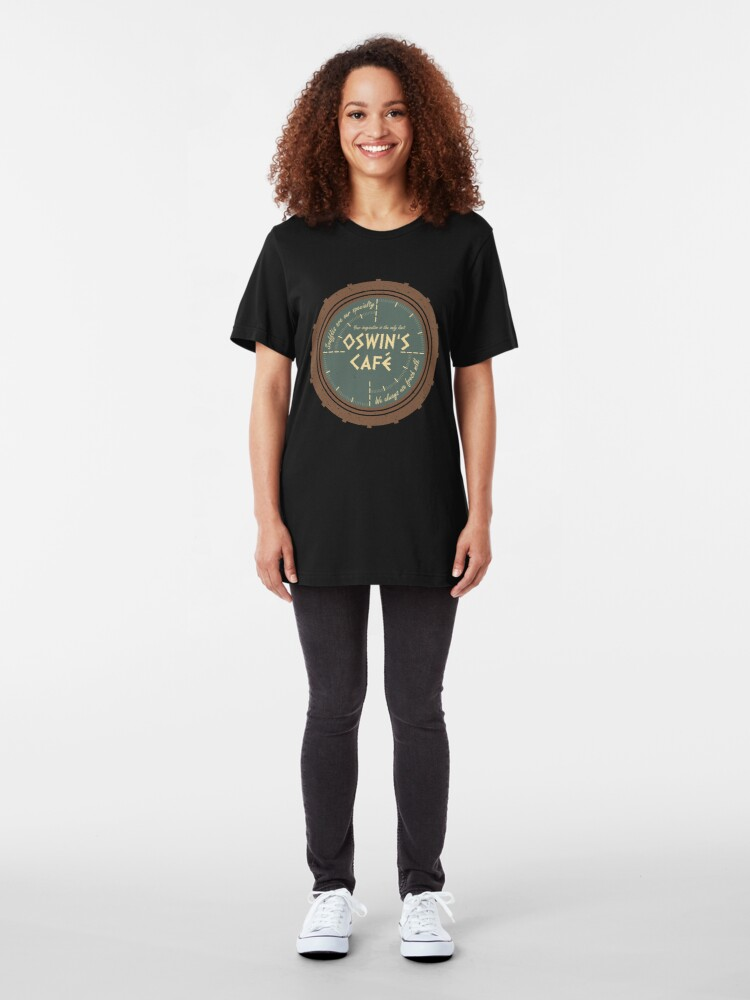 Alternate view of Oswin's Cafe Slim Fit T-Shirt
