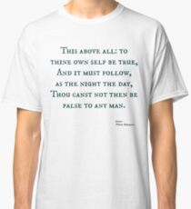 Hamlet Zitat Classic T-Shirt