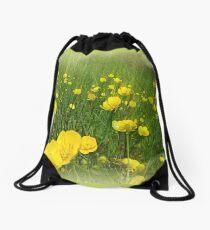 Golden Meadows Drawstring Bag