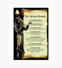 Thoth and The 7 Hermetic Principles Art Print