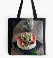 Smoked Salmon and Artichokes with Basil, Pinenut and Lemon Sauce Tote Bag