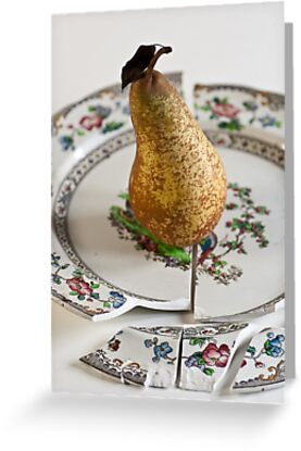 Pear on Plate by Ilva Beretta