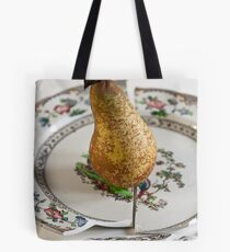Pear on Plate Tote Bag