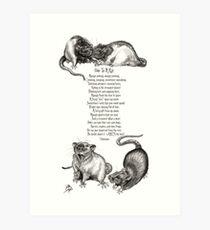 Ode To A Rat Art Print