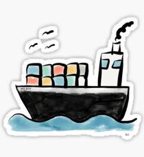 Containerschiff | von Andy's Aeronauts Sticker