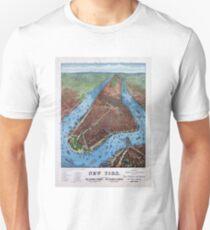 Camiseta ajustada New York Vintage Aerial views Restored 1879