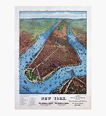 Lámina fotográfica New York Vintage Aerial views Restored 1879