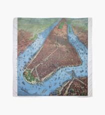 Pañuelo New York Vintage Aerial views Restored 1879