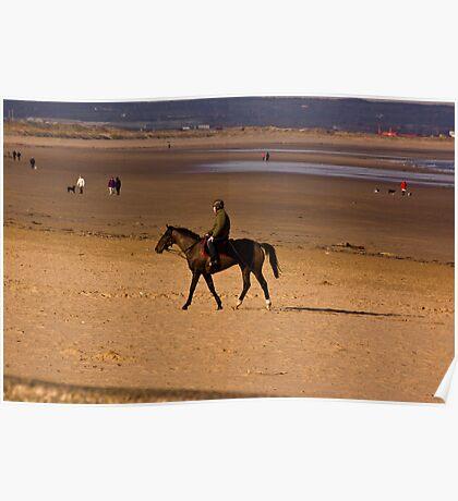 Redcar Beach Poster