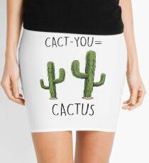 Cute Cactus Couple Mini Skirt