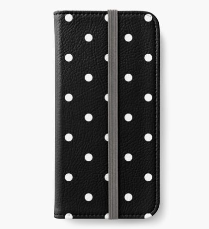 Polka Dots - Black and White Funda tarjetero para iPhone
