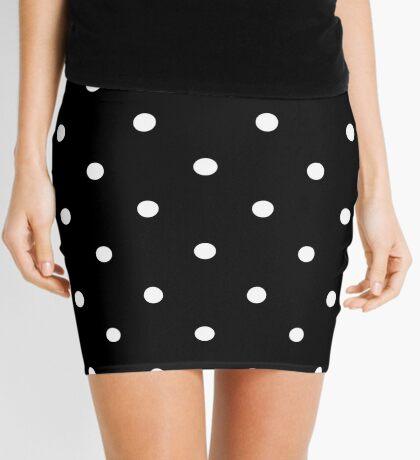 Polka Dots - Black and White Minifalda