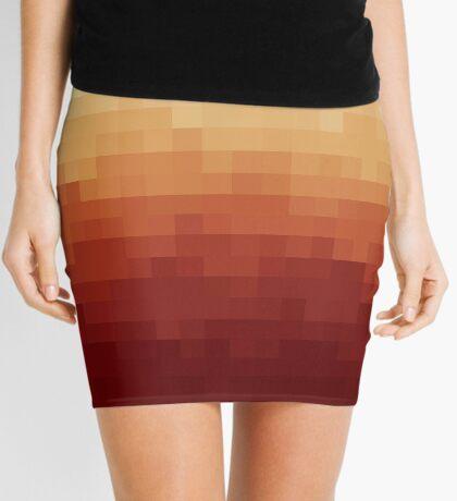 Gradient Red Fire Pixels Minifalda