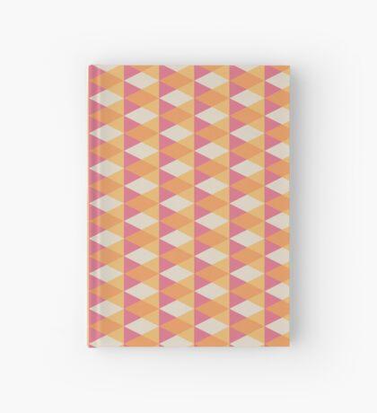 Patrón geométrico vintage de mediados de siglo Cuaderno de tapa dura