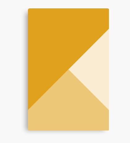 Geometría Gradiente - Mostaza Lienzo