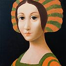 Young woman with Renaissance hat. by ipalbus-art