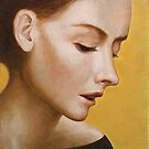 Profile portrait of a beautiful woman. by ipalbus-art