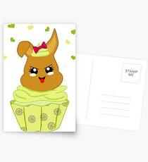 freches Zitronen Cupcake Postkarten