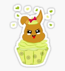 freches Zitronen Cupcake Sticker