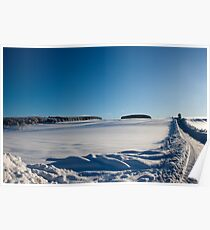 Snowy Aberdeenshire countryside Poster