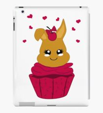 Häschen im Kirsch Cupcake iPad-Hülle & Klebefolie