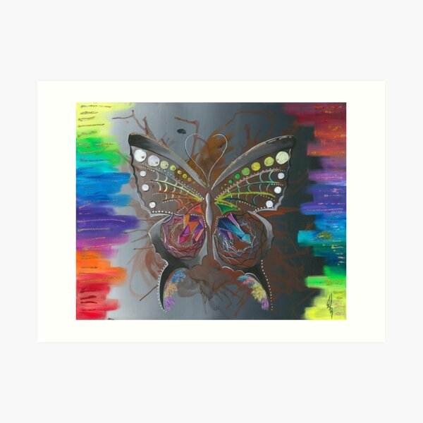 ᑲ ᒫ ᒪ ᐠ kamâmak- the butterfly Art Print