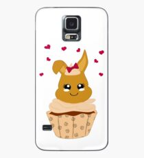 niedlicher Haselnuss Cupcake Hülle & Klebefolie für Samsung Galaxy