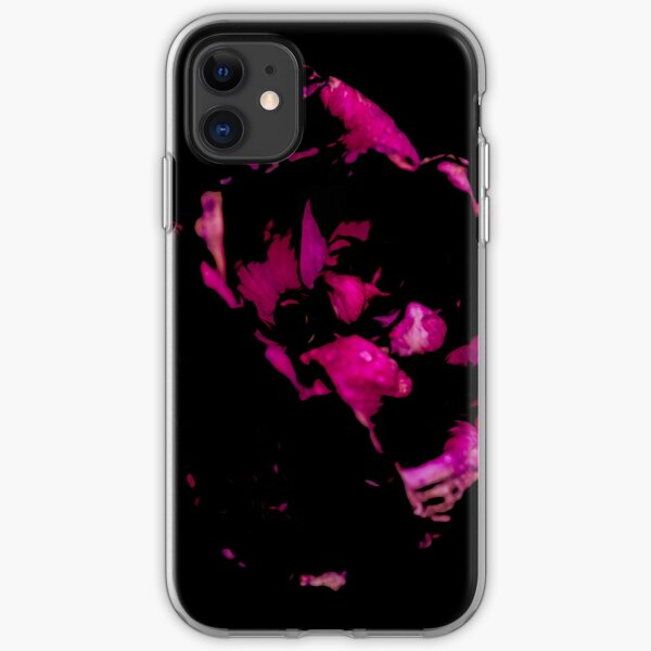 Two Tone Pink & Black Flower iPhone Soft Case