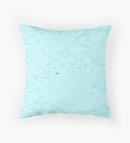 Swans a flying pattern - pale blue  Throw Pillow