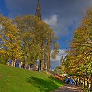 Princes Street Gardens, Edinburgh, Scotland.  by AlbaPhotography