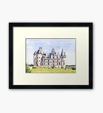 Château at La Rochefoucauld, France Framed Print