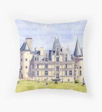 Château at La Rochefoucauld, France Throw Pillow
