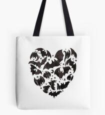 Fledermaus Herz Tote Bag