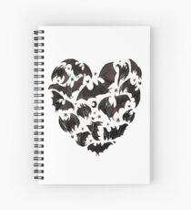Bat Heart Spiral Notebook