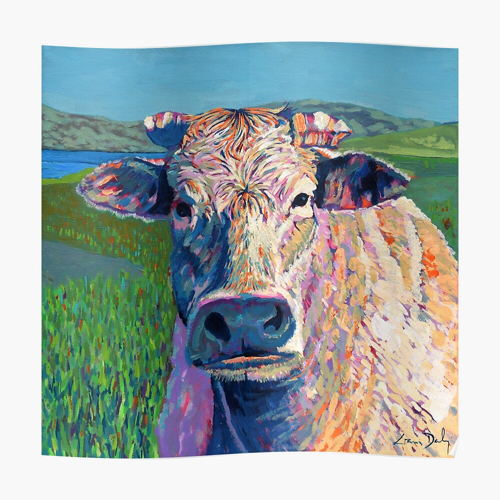 Bovine (Cow. Well, technically a bullock) Poster