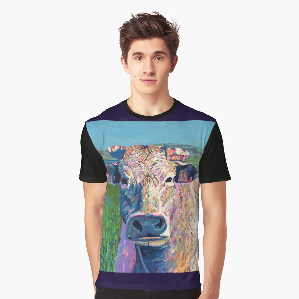 Bovine (Cow. Well, technically a bullock) Graphic T-Shirt