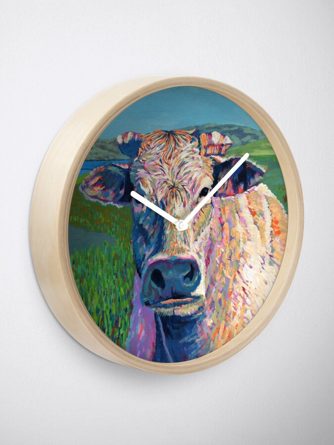Alternate view of Bovine (Cow. Well, technically a bullock) Clock