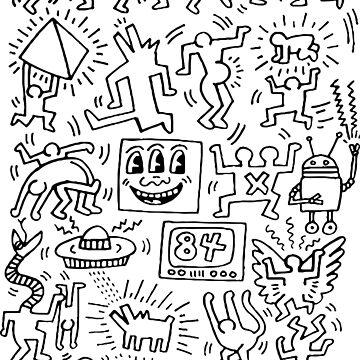 Untitled (Icons Series) Pattern Icon Obra original, Love Icons Tshirts, Hearts Prints, Posters, Bolsas, Para hombres, Mujeres, Niños, Jóvenes de clothorama