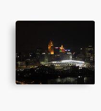 Paul Brown Stadium Night - Cincinnati, Ohio Canvas Print