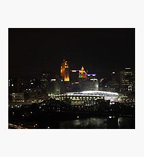 Paul Brown Stadium Night - Cincinnati, Ohio Photographic Print
