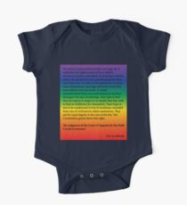 Gay Marriage  One Piece - Short Sleeve