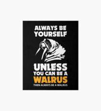 Walrus gift sea animal zoo arctic funny Art Board